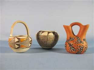 8: Acoma Pottery Vases and Bowl