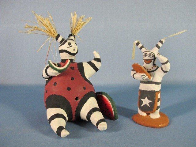10: Taos Pueblo Two Pottery Figures