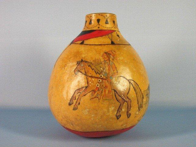 12: Southwestern Native American Polychrome Gourd