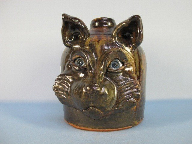 """23: Face Jug Pottery """"Cat"""" by  Huey & Anne Wheeler"""