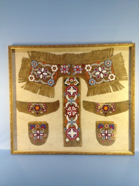 50: Framed Plains Indians Dress Dance Outfit