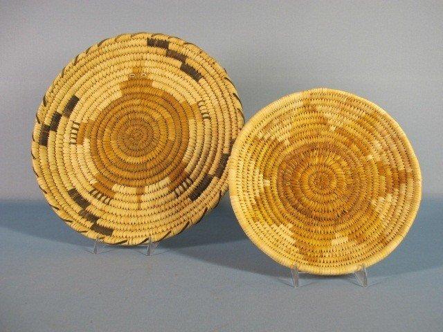 148: Papago Hopi Flat Baskets
