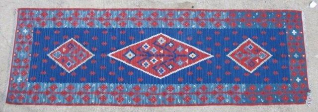 2: Flat Weave Rug/Runner 8 ft 2 in by 2 ft 9 in
