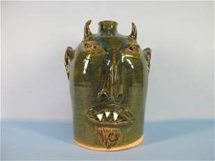 """7: Face Jug Pottery """"Jersey Devil"""" by R. Anderson"""