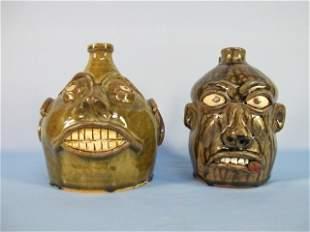 8: Georgia Folk Pottery, Face Jugs