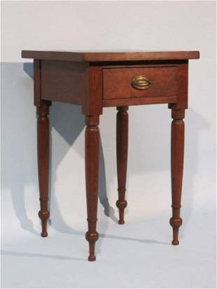 9: Antique American Sheraton Stained Pine End Table