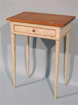 11: 19th C American Painted Pine Side Table