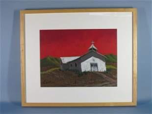 12: Oil Pastel on Paper by Jennifer Cavan