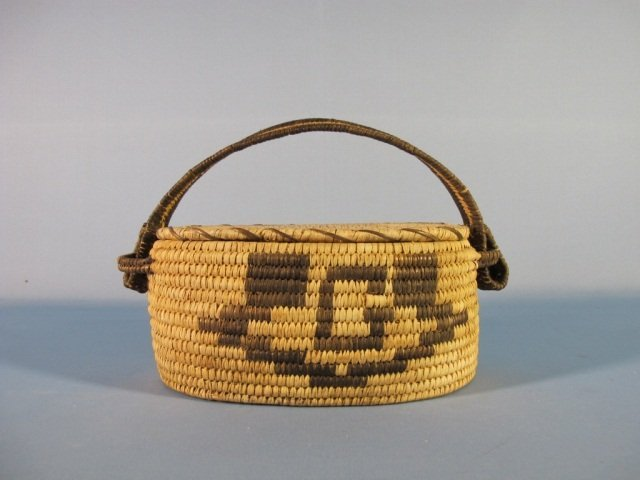 13: Hopi Lidded Basket with Handle