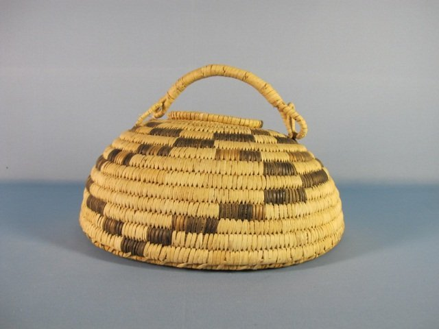15: Papago Large Domed Lidded Basket with Handle