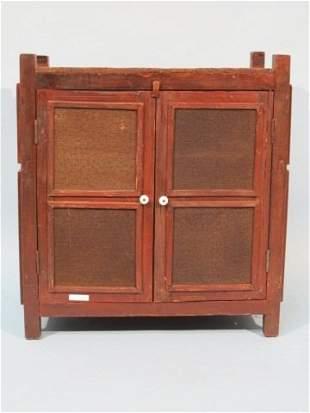 17: 19c. Small Mesh Pie Cabinet