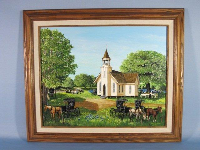 19: Oil on Canvas by Lee Ruhmann