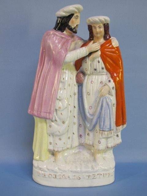 43: Stafforshire Figural Group-Prodigal's Return 19 C.