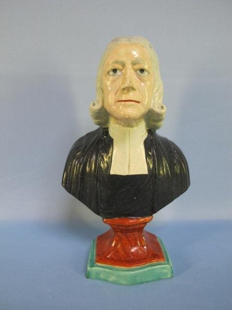 70: STAFFORDSHIRE BUST OF WESLEY