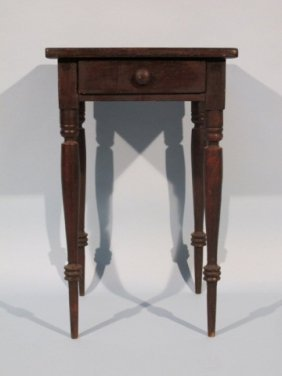 Antique Pennsylvania Sheraton Poplar End Table