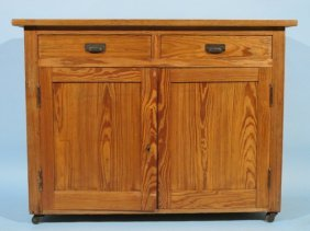 Good American Stripped & Waxed Pine Cabinet 19 C.