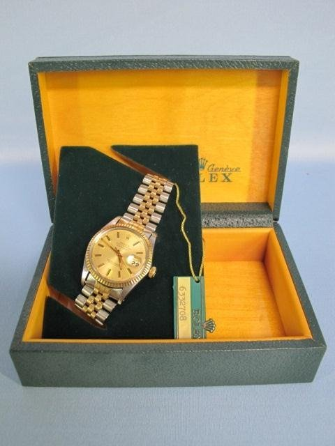 97: ROLEX Oyster Perpetual Datejust SS & Gold Men's