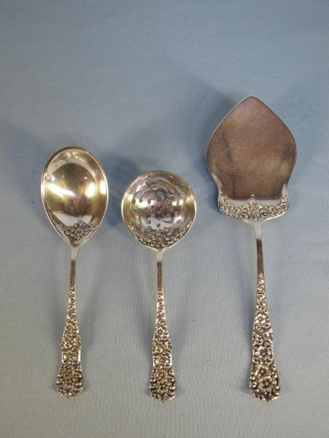 102: Sterling 3 pc Serving Set by Dominick & Haff