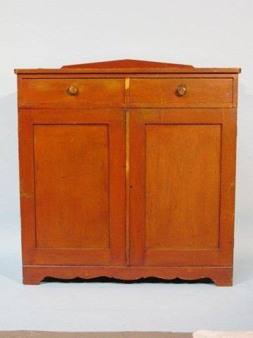 118: Early American Stained Poplar Cupboard