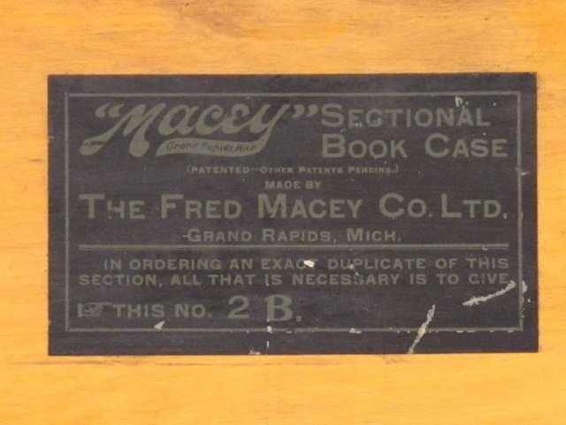 129: Macey Barrister 3 Section Bookcase, early 1900's - 3