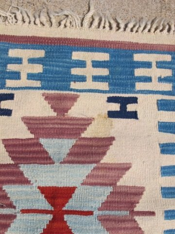 215: Assorted Lot of 5 Small Hand Made Flat Weave Rugs - 2