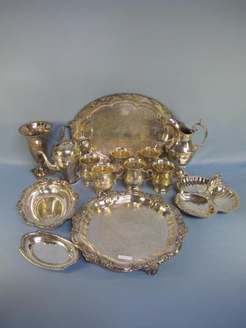 12: Assorted Lot Of 14 Silver Plated Items