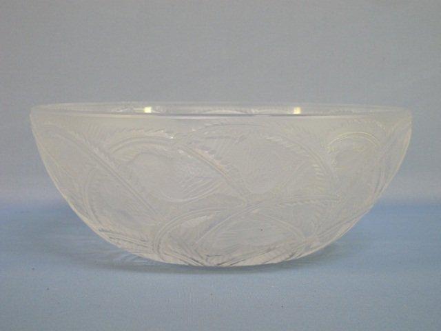 "19: Lalique Crystal ""Pinsons"" Bowl"