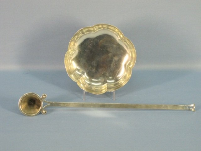 21: Sterling Candle Snuffer & Sterling Silver Bowl
