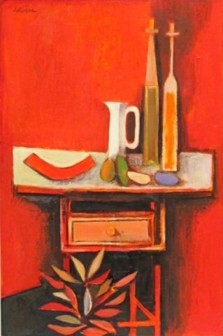 "67: David ADICKES, ""Ensemble on Table"", 1967"