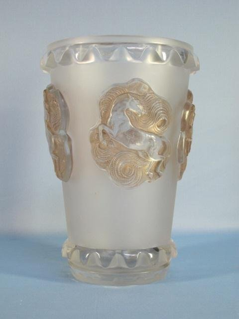 """72: Rene Laligue RARE """"CAMARGUE"""" Vase Model No 10-937"""