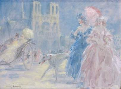 "87: Louis ICART (1888-1950), Oil on Canvas, 21""x28.75"""