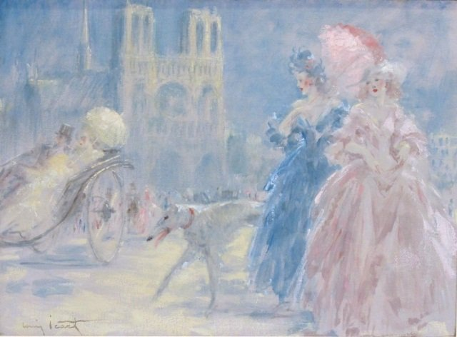 "87: Louis ICART (1888-1950), Oil on Canvas, 21""x28.75"""