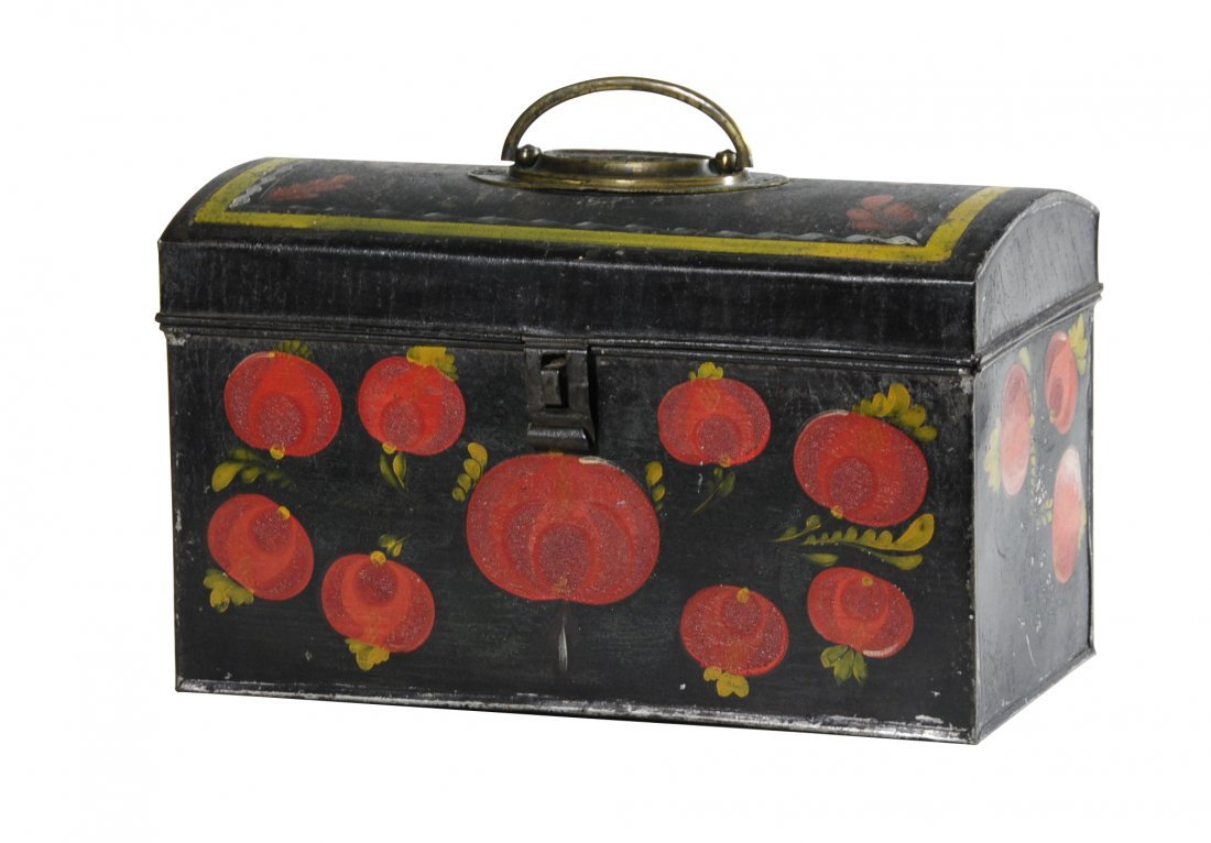 01: Tin Painted Toleware document box