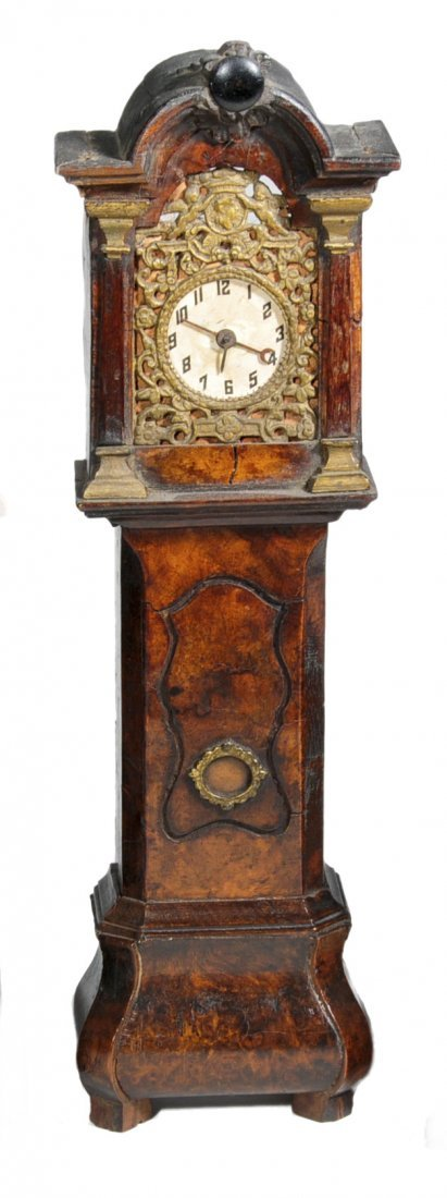 05: Miniature doll-house tall case clock