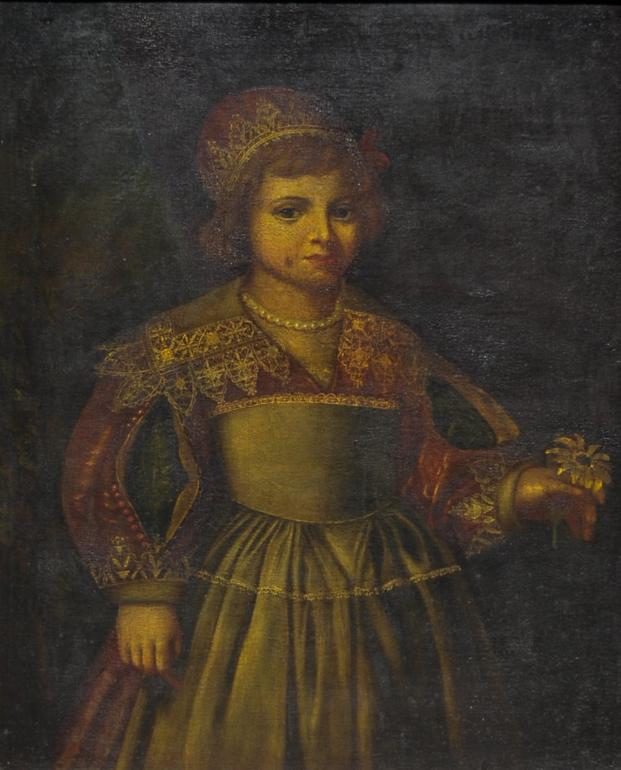 20: Oil on masonite portrait of boy