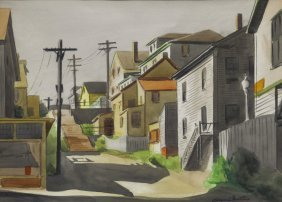 Watercolor On Paper Of Manayunk