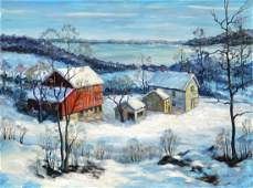 94: Oil on board landscape by Clarence Dreisbach