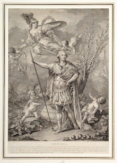 5: Louis XVI, roi de France. Belle gravure signée Alibe