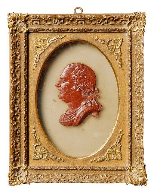 6: Louis XVI, roi de France. Médaillon représentant un