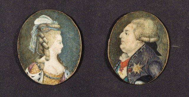 23: Louis XVI et Marie-Antoinette, roi et reine de Fran