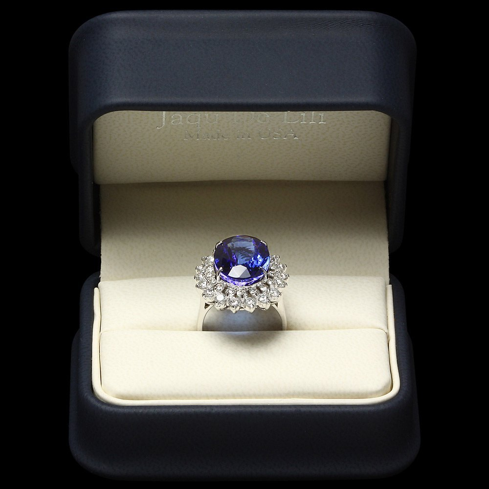 14k Gold 11ct Tanzanite 2.30ct Diamond Ring - 4