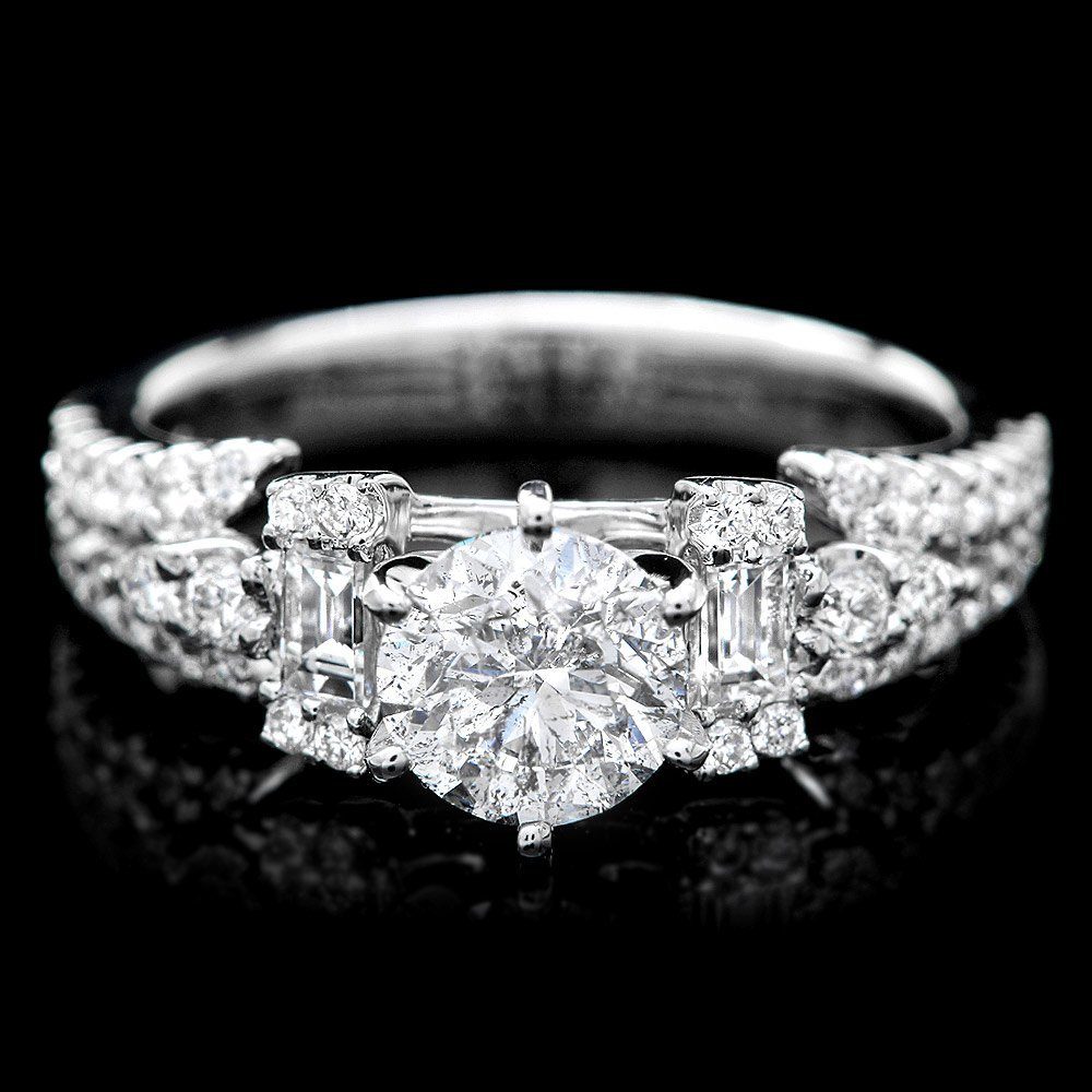 18k White Gold 1.53ct Diamond Ring