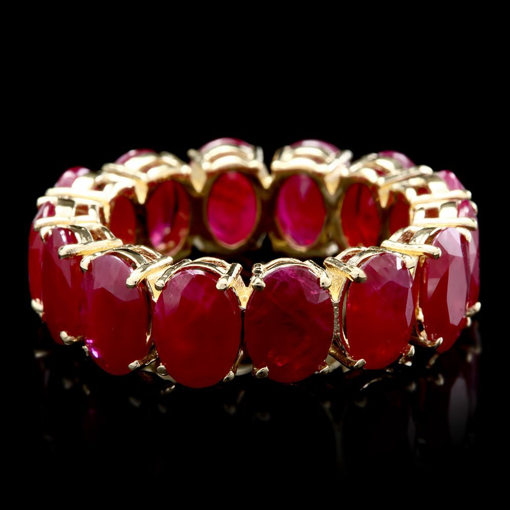 14k Yellow Gold 11.40ct Ruby Ring