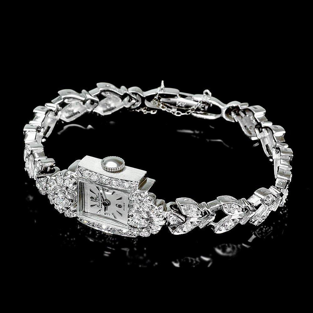 Paul Du Pree 14k White Gold 1.50ct Diamond Watch