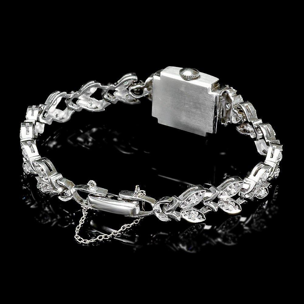 Paul Du Pree 14k White Gold 1.50ct Diamond Watch - 2