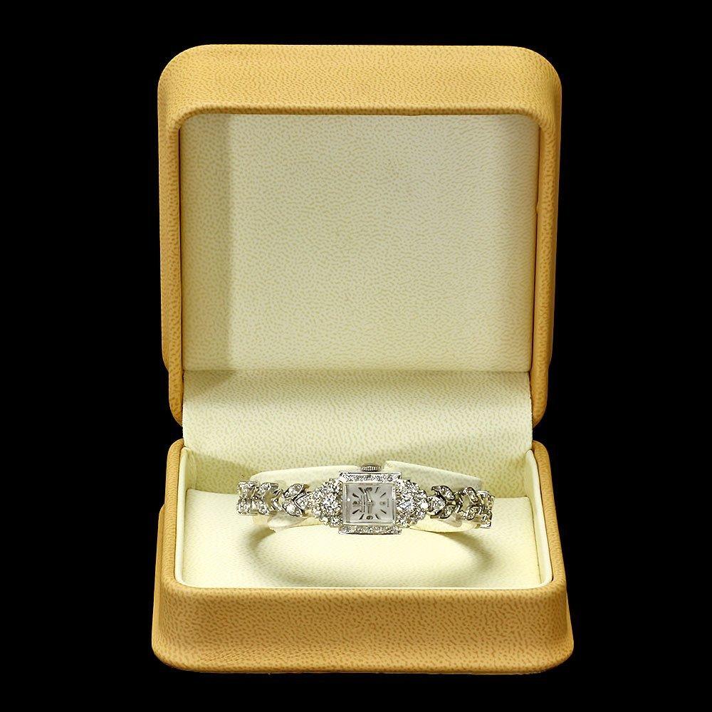 Paul Du Pree 14k White Gold 1.50ct Diamond Watch - 3