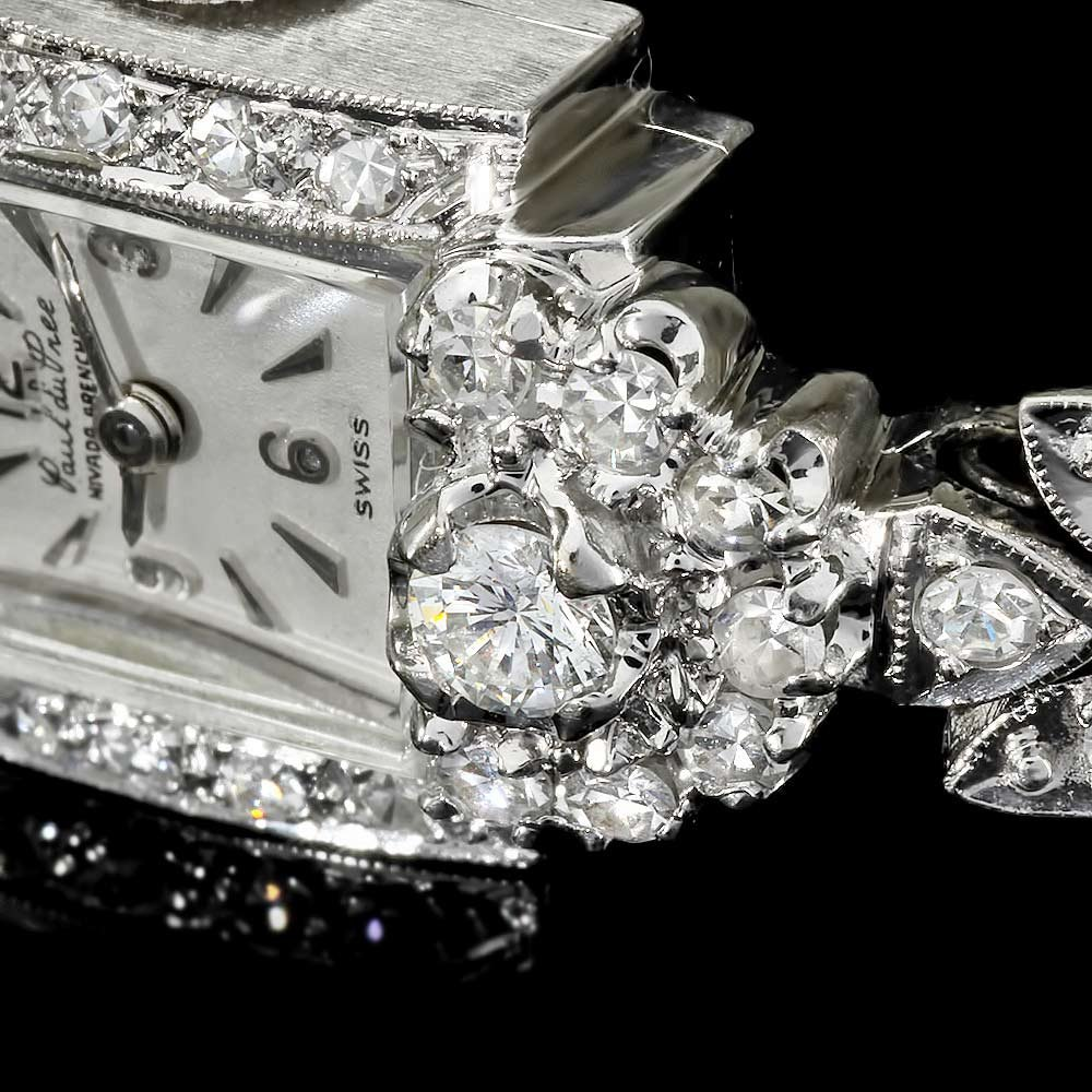 Paul Du Pree 14k White Gold 1.50ct Diamond Watch - 5