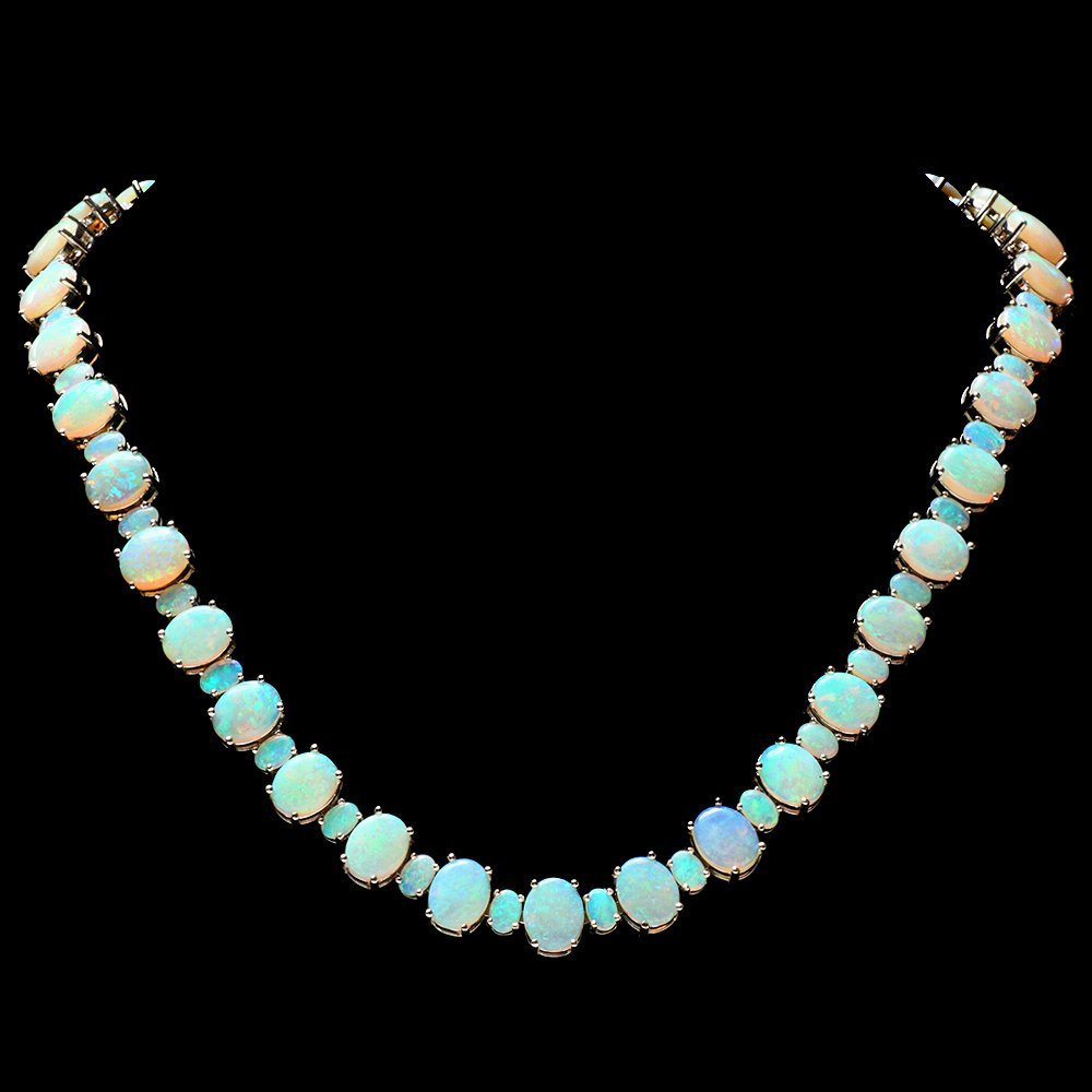 14k Yellow Gold 58ct Opal Necklace
