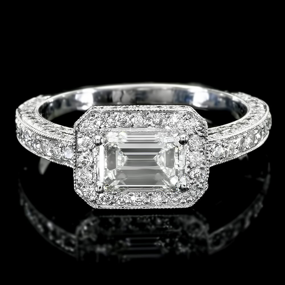 14k White Gold 3ct Diamond Ring