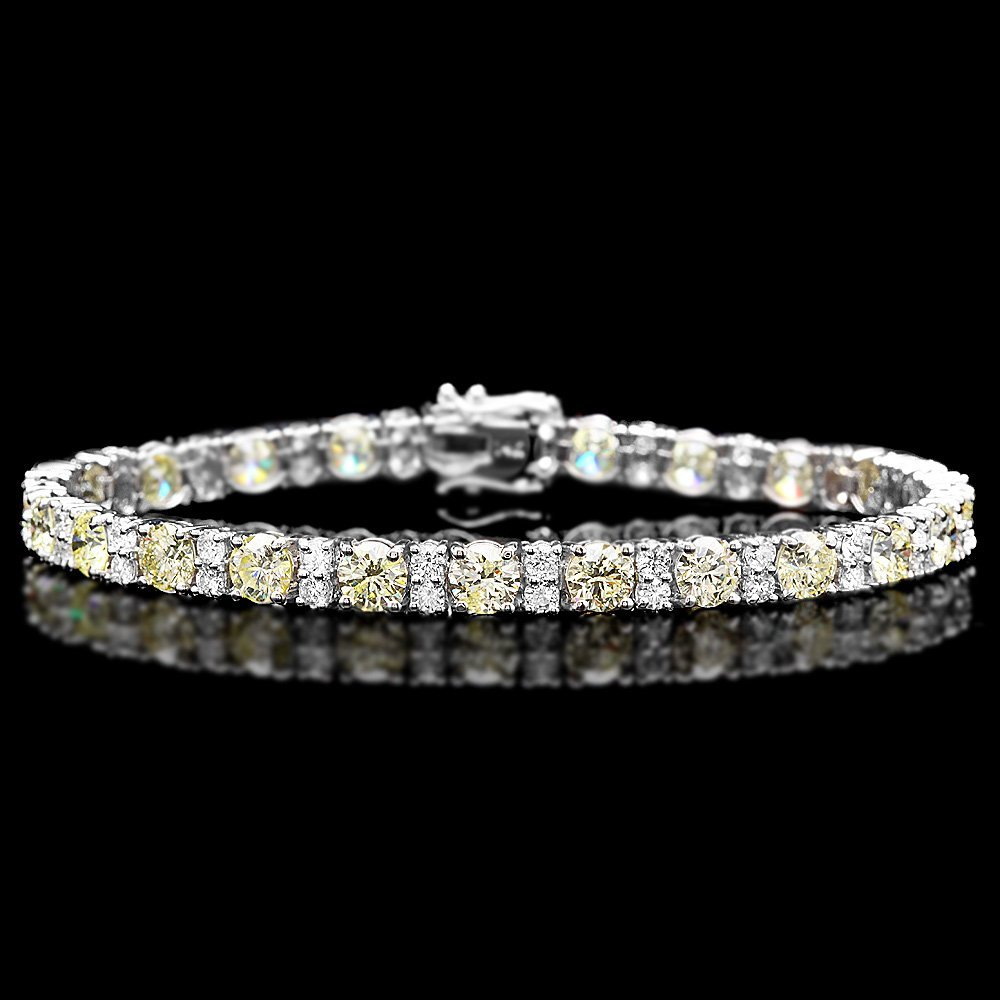 18k White Gold 12.5ct Diamond Bracelet